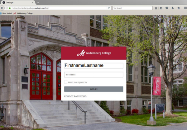 Muhlenberg's One Login Application Portal